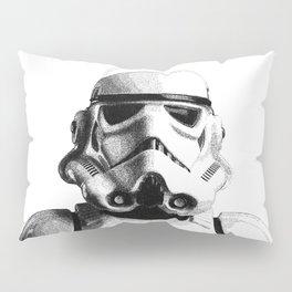 Stormtrooper Hand Drawn Dotwork - StarWars Pointillism Artwork Pillow Sham
