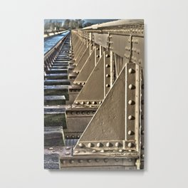 Old railway bridge in the Netherlands Metal Print