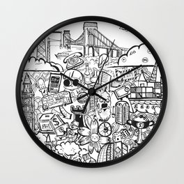 Travel with Pen,so? Wall Clock