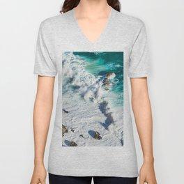 Wave Break - Ocean Shores Unisex V-Neck