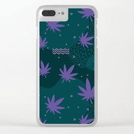 Stoner pattern Clear iPhone Case