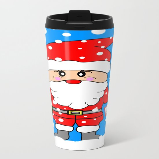 Merry Christmas Santa Metal Travel Mug