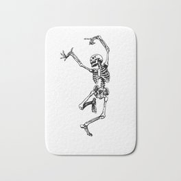 DANCING SKULL Bath Mat