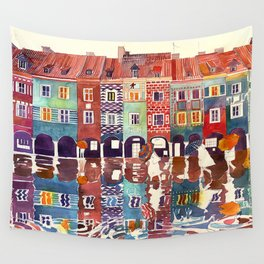 Rainy day in Poznań, Poland Wall Tapestry