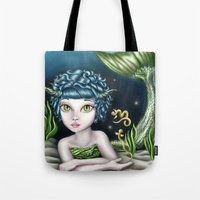 capricorn Tote Bags featuring Capricorn by Paula Ellenberger