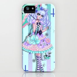 Pastel Gothic Buttons iPhone Case