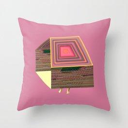 Pink Virtual House Throw Pillow