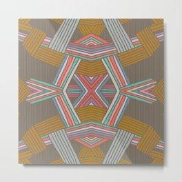 Native Pinstripe Metal Print