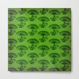 """Mushrooms in the Garden"" Alice in Wonderland Style Design by Dark Decors Metal Print"