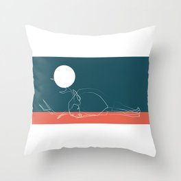 deer sky pt.1 Throw Pillow