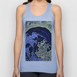 "Hokusai (1760–1849) ""Femenine wave"" Unisex Tank Top"