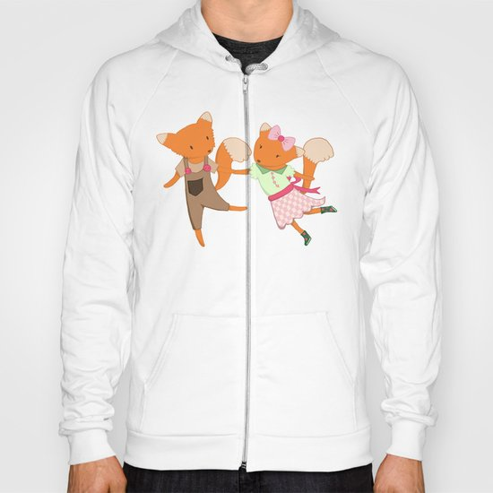 Two Foxes walking through the Forest Hoody