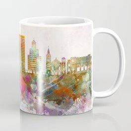 El Paso V2 skyline in watercolor background Coffee Mug