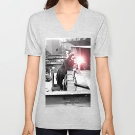 Vintage Female Welder / Oxy-Fuel Cutter Unisex V-Neck