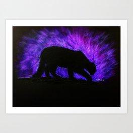 Mountain Lion at night Art Print