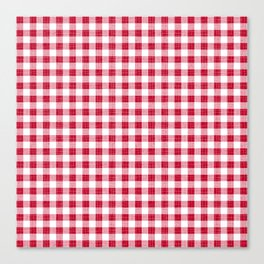 Rustic - Red Gingham Canvas Print
