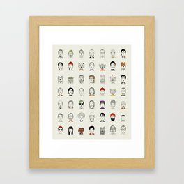 Random People Framed Art Print