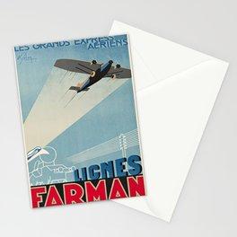retro lignes farman les grandes express aériens. 1930 Stationery Cards