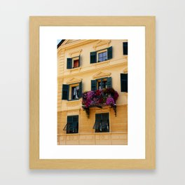 The Yellow Facade Framed Art Print