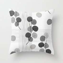 Seamless pattern of abstract branches. Throw Pillow