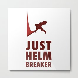 JUST HELM BREAKER RED Metal Print