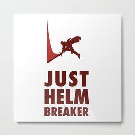 JUST HELM BREAKER RED Metal Print