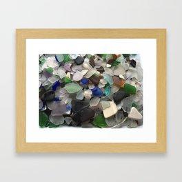 Sea Glass Assortment 1 Framed Art Print