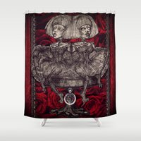 gothic Shower Curtains featuring Gothic Twins by AKIKO