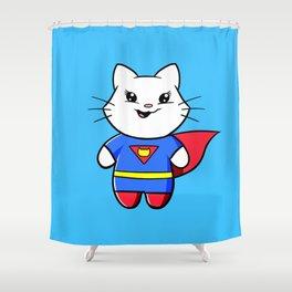 Superkitty! Shower Curtain