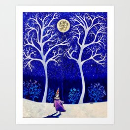 'The Moon is a Balloon (Anchored to Promises of the Night)' Art Print