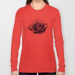 HALFTONE ROSE Long Sleeve T-shirt