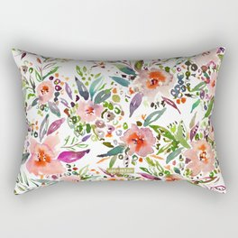 INCOGNITO INTROVERT Tropical Colorful Floral Rectangular Pillow