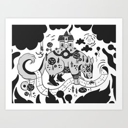 My Home is my Castle- Grayscale Art Print