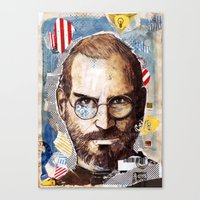 steve jobs Canvas Prints featuring Steve Jobs by Mariogogh