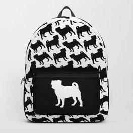 Simple Pug Silhouette Backpack