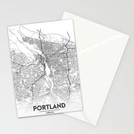 Minimal City Maps - Map Of Portland, Oregon, United States Stationery Cards