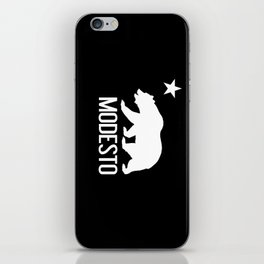 Modesto and California Bear iPhone Skin