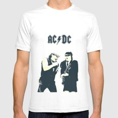 AC/DC X-LARGE White Mens Fitted Tee