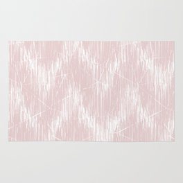 Simple white, pink pattern. Rug