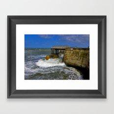 High Tide Whitby Framed Art Print