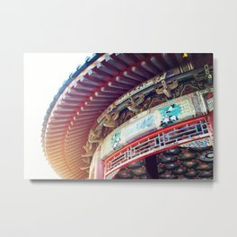 Chinese Style Roof, Round Roof Metal Print