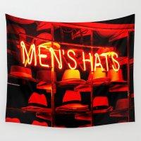 hats Wall Tapestries featuring Men's Hats by Wanker & Wanker