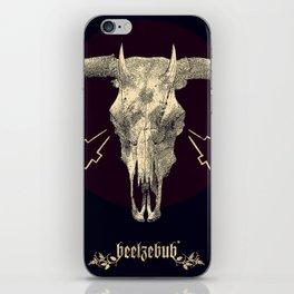 Beelzebub - Evil and dark skull with devil horns. iPhone Skin