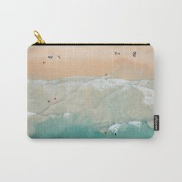 Beachgoers from above Carry-All Pouch