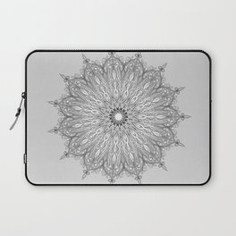 Gray Swirl Mandala light gray Laptop Sleeve