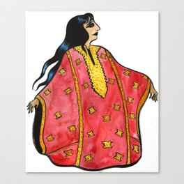 Lady in Red Thobe Canvas Print