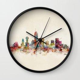 dallas texas skyline Wall Clock