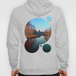Winter mood on the river | waterscape photography Hoody