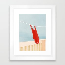 Bathing Suit Framed Art Print