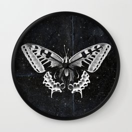 Butterfly in the stars Wall Clock